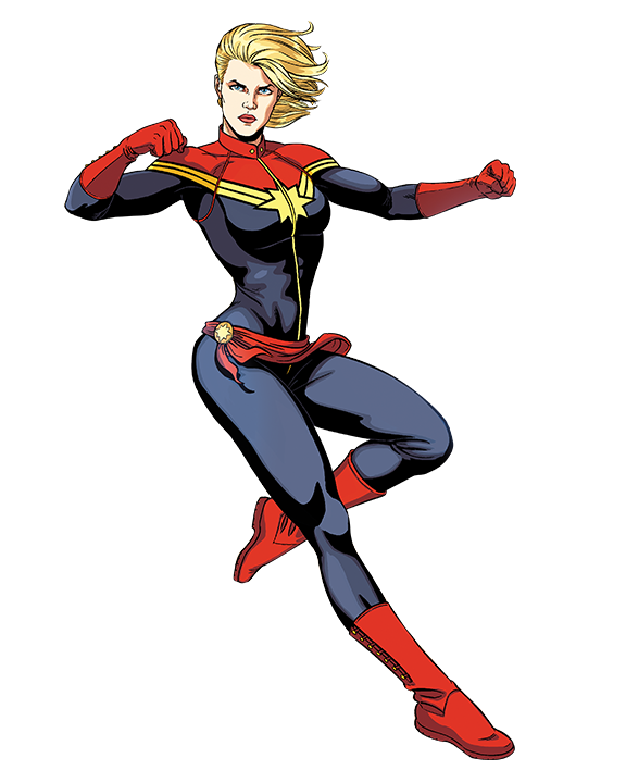 Pic mart. Captain marvel comic png clip art black and white library