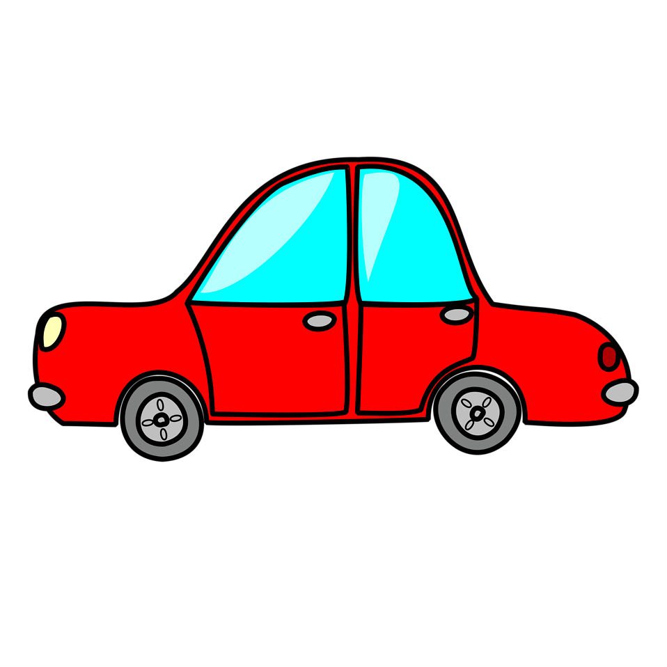 Car cartoon png. Free stock photo illustration