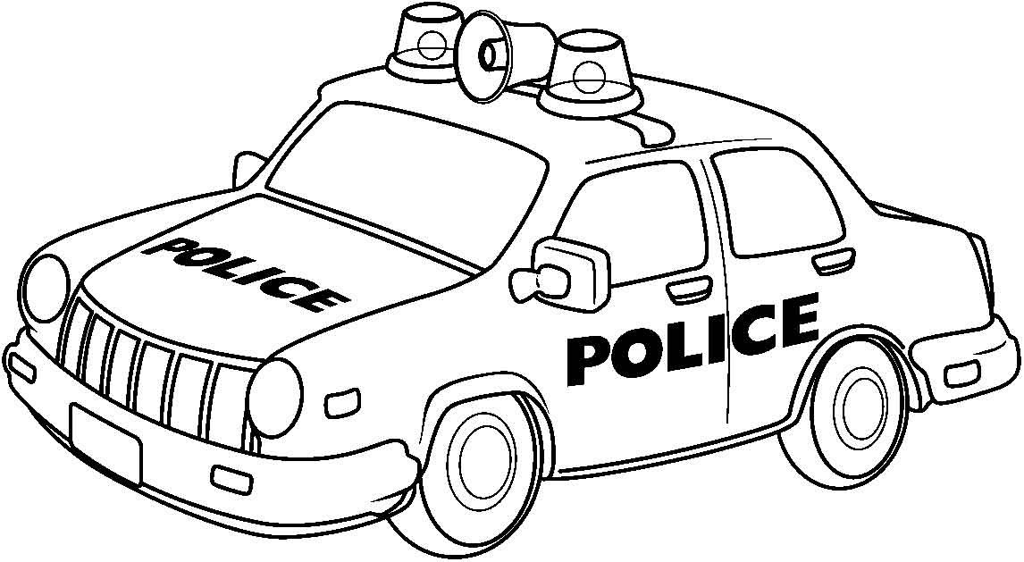 Appealing Police Car Clipart Black And White Listmachinepro Com