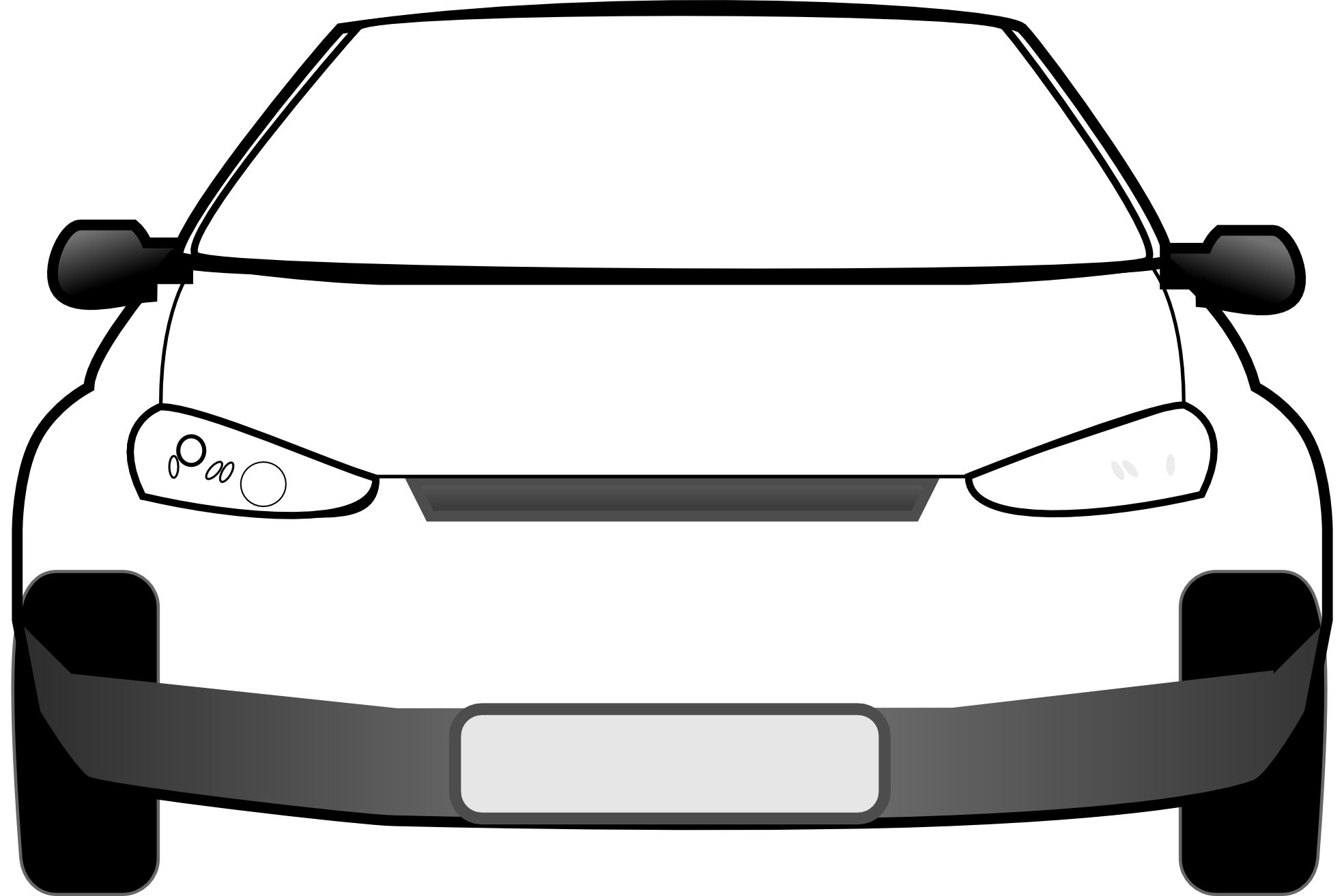 Car clipart machine. Front view rudycoby net