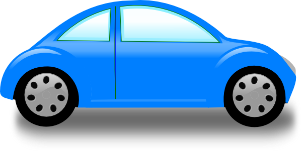 Car clipart vector. Blue clip art at