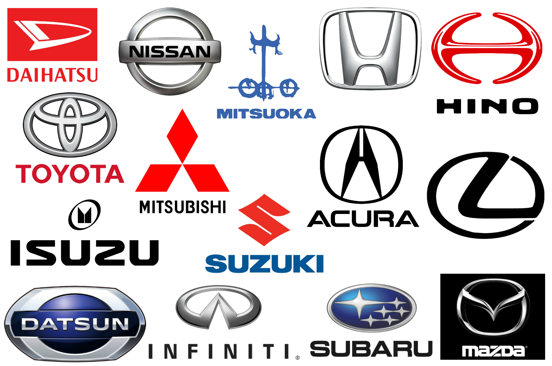 Japanese brands companies and. Car company logos png picture freeuse library