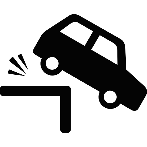 Car falling png. Crash plane icon svg