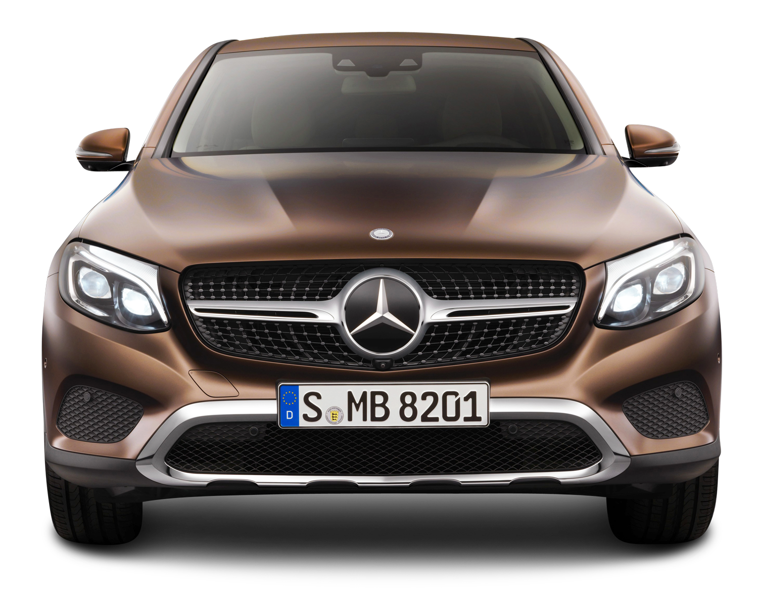 Car front view png. Brown mercedes benz gle