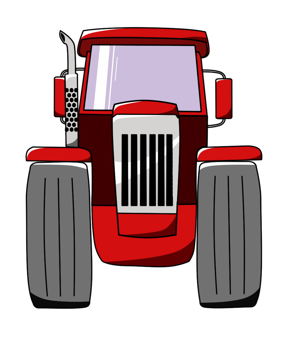 Car front view png red sprite. Tractor opengameart org tractorpng