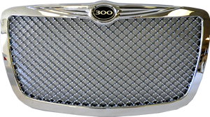 Chrome grille png. Car front mesh grill