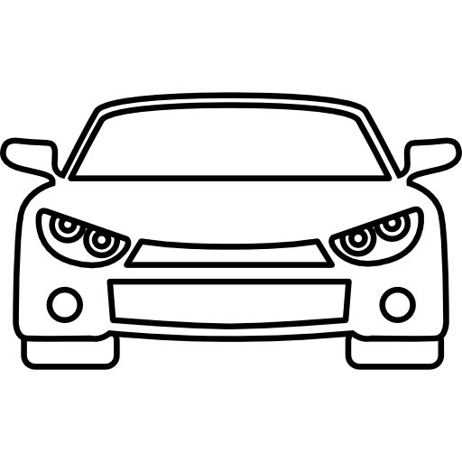 Car outline png. Front free transport icons