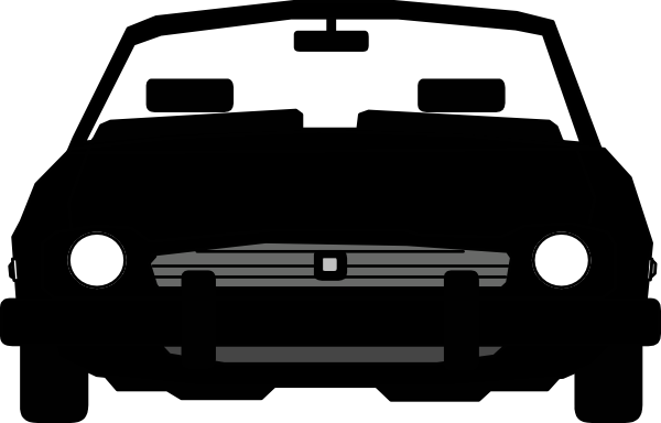 Vector cars png. Cartoon car silhouette at