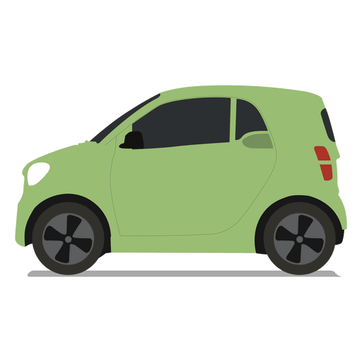 Smart vector small car. Side view transparent png