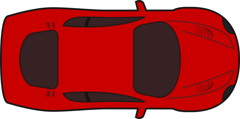Car sprite png. Clipart red racing top