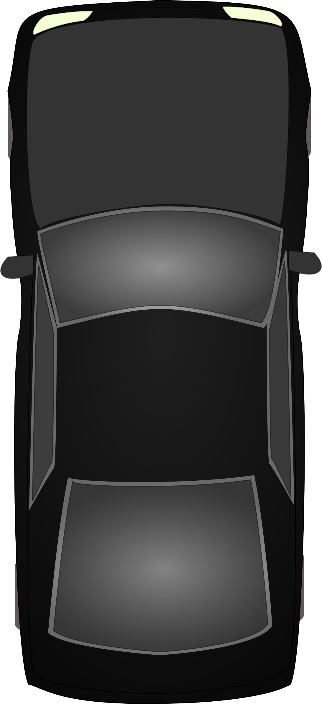 Car top view png. Black topview icons free