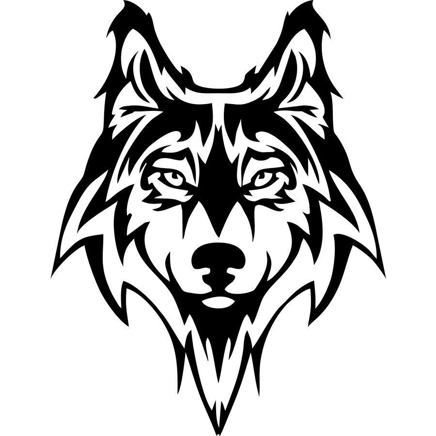 Vinyl decal png. Wolf dog doggy snout