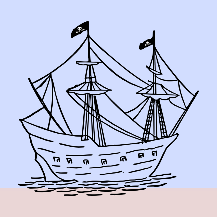 Caravel drawing sail ship. Computer icons free commercial