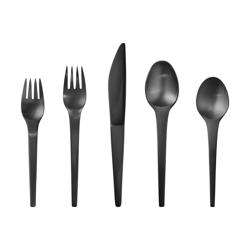 Caravel drawing black and white. Cutlery set pvd pcs