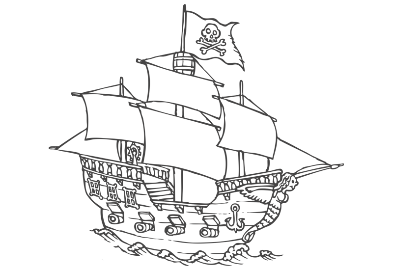 Caravel drawing easy. Pirate ship at getdrawings
