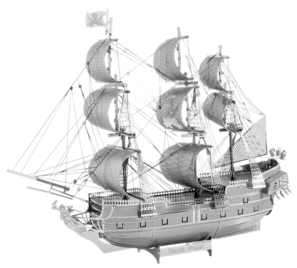 Caravel drawing ship. Metal earth diy d