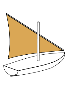 Lateen wikipedia. Sail clipart drift boat banner transparent library