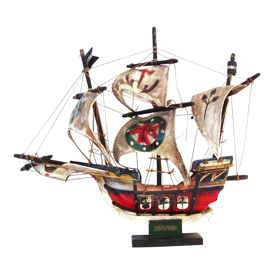Caravel drawing wood ship. Wooden model pirate nautical