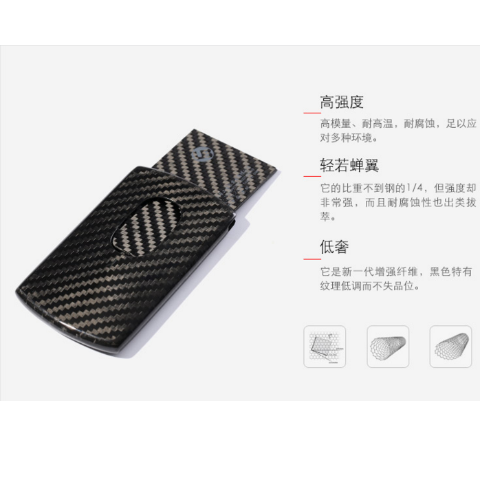 Miney clip credit card. Professional carbon fiber slim
