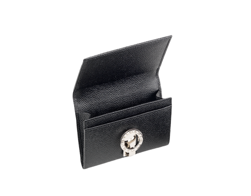 Clip cards card holder. Bvlgari leather business e