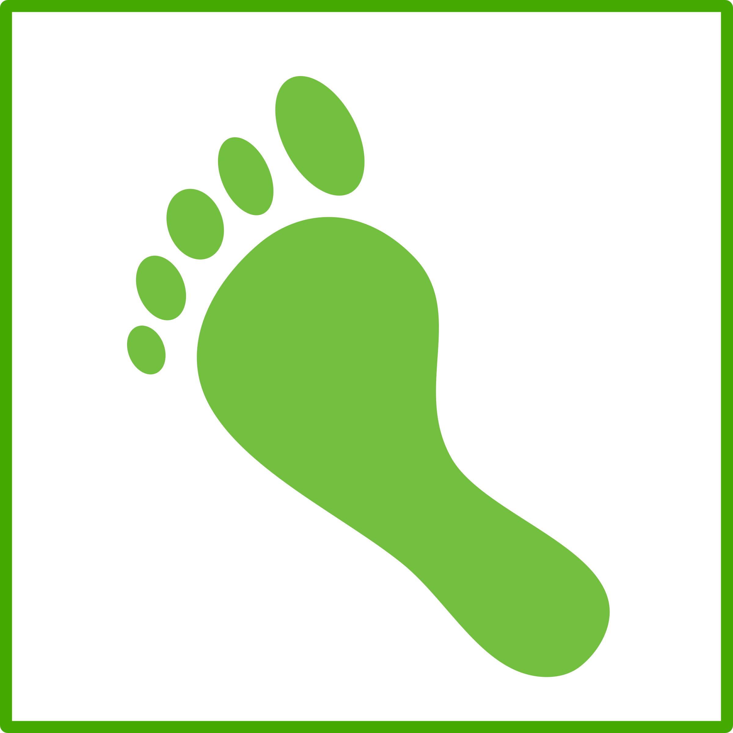 footprint transparent green