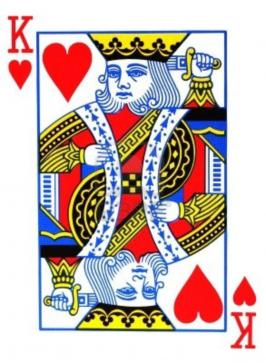 Card clipart heart king. Of hearts playing art