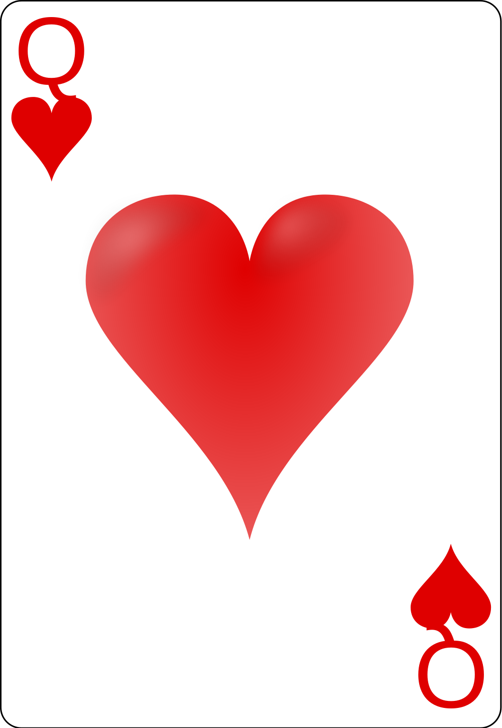 Card clipart heart queen. File of hearts svg