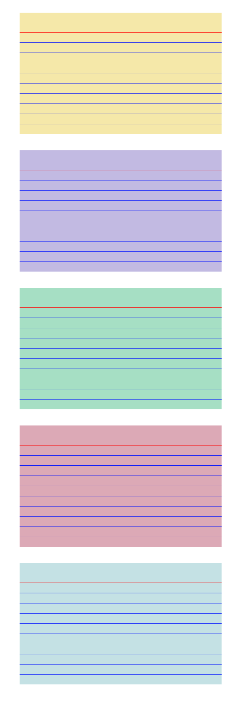 Card clipart note card. Colored index cards big