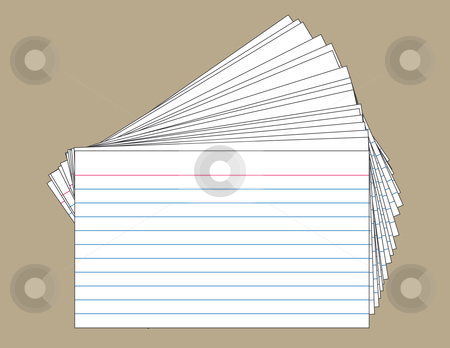 Card clipart note card. Stack of index cards