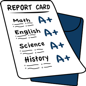Card clipart school. Report cards events capay