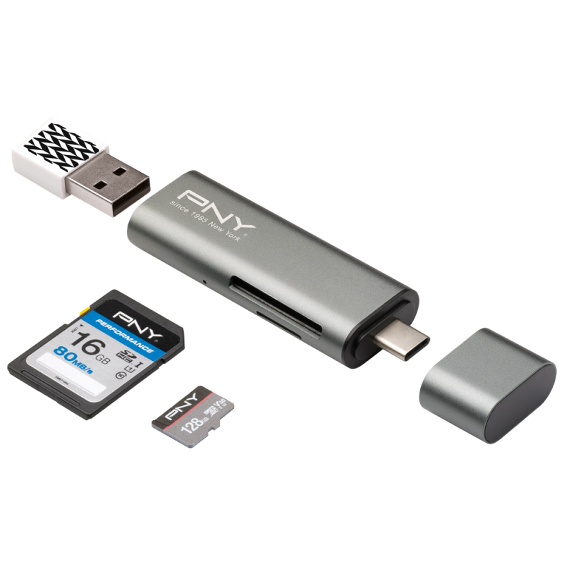 Card reader png. Usb c adapter pny