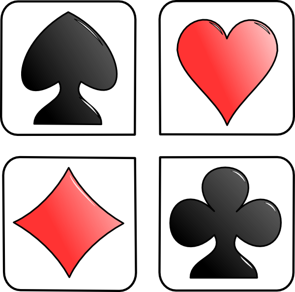 Playing cards suits png. Suit of card stencil