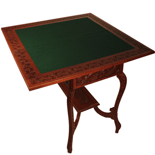 Card table png. British colonial folding