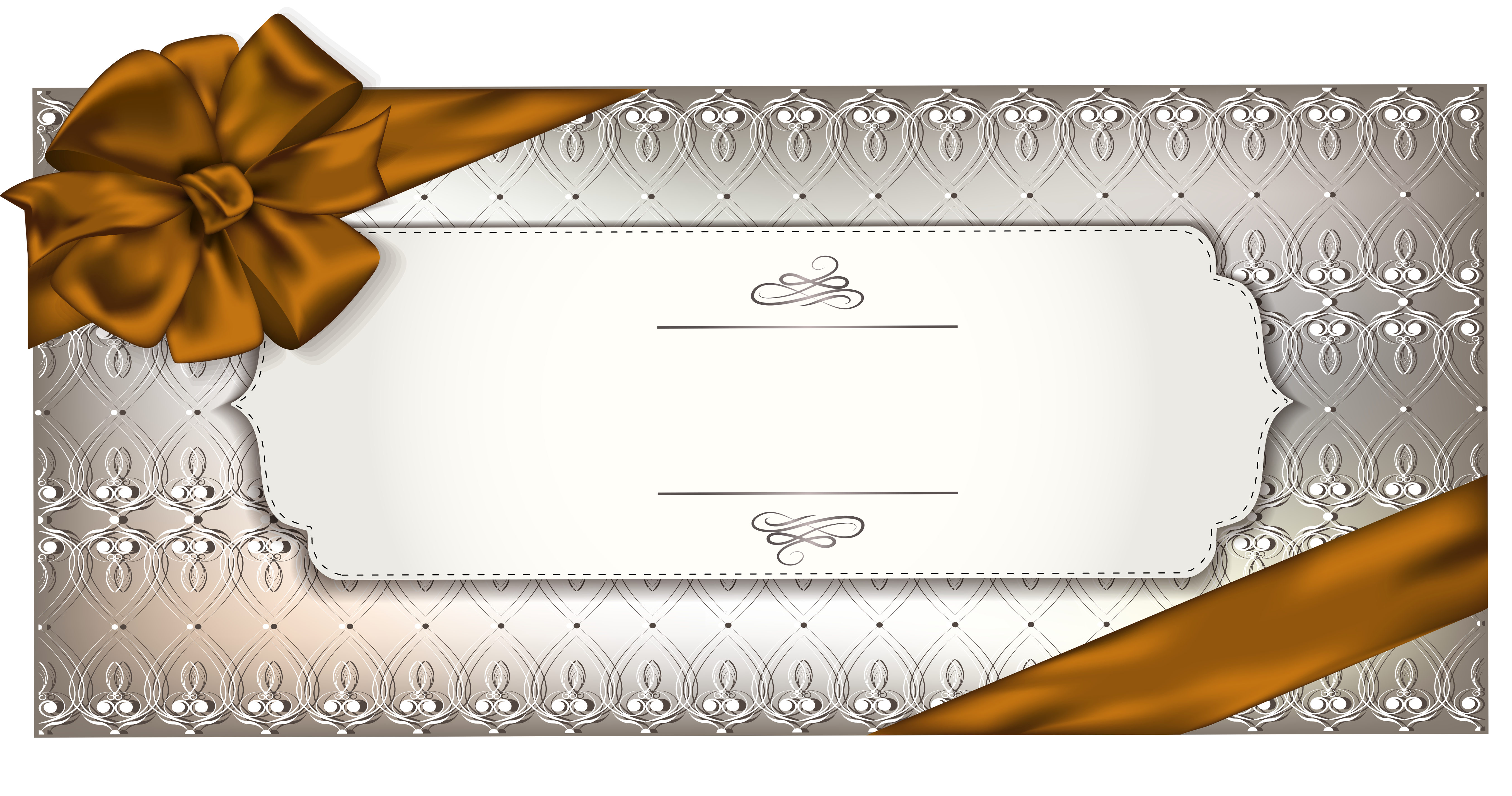 Gift certificate png. Card template clipart image