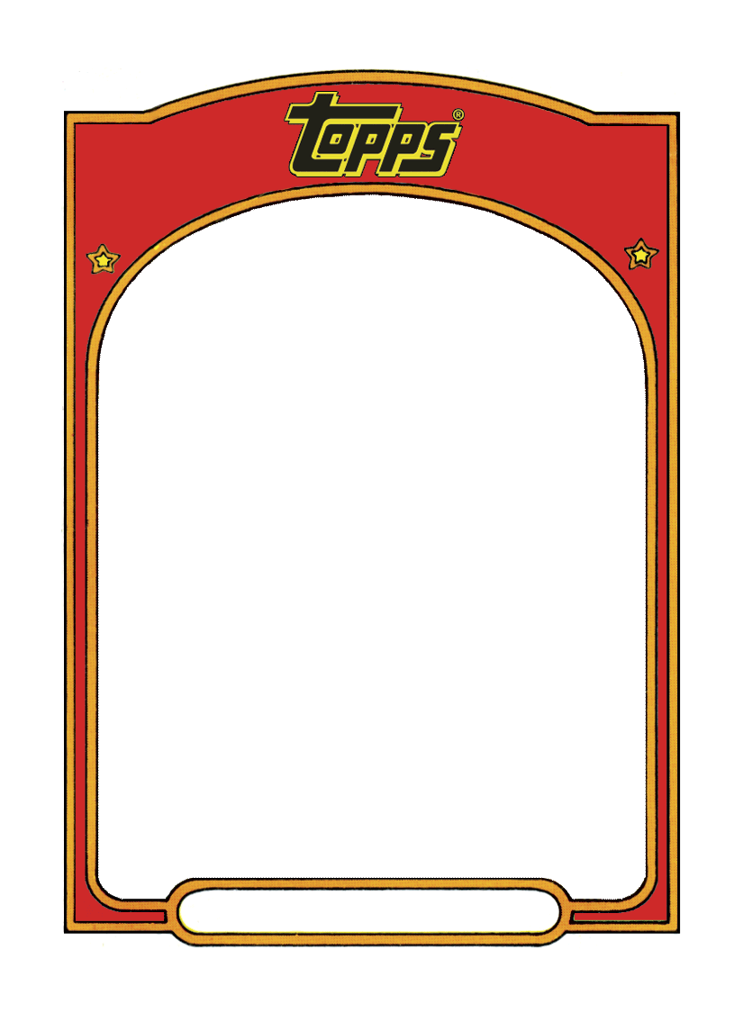 Card template png. Sports trading templet craft