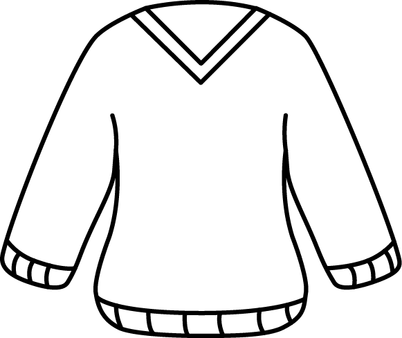 V drawing black and white. Sweater clip art images