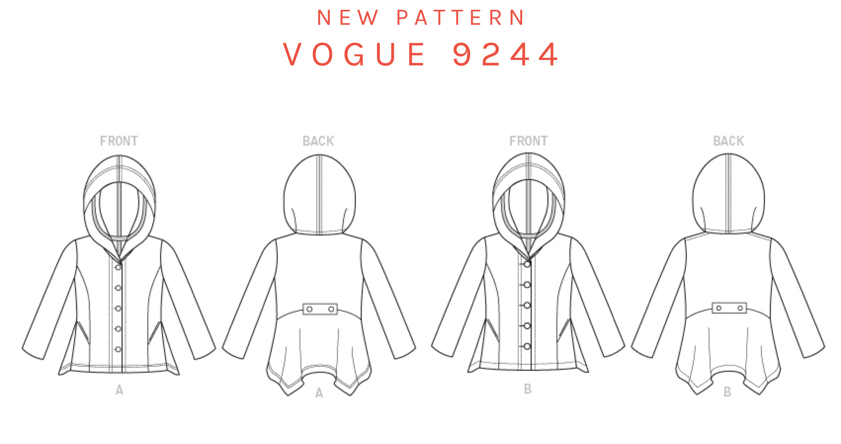 Drawing capes. New vogue cardigan hoodie