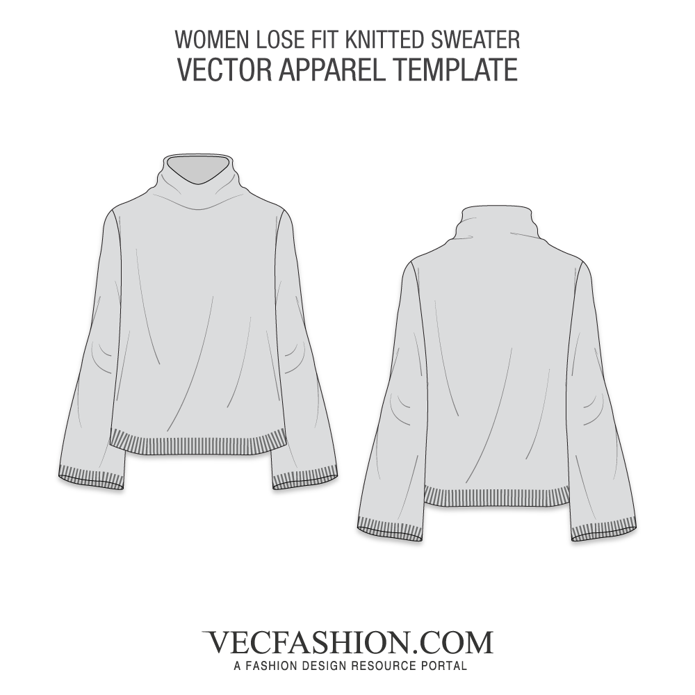 knitting vector knit sweater