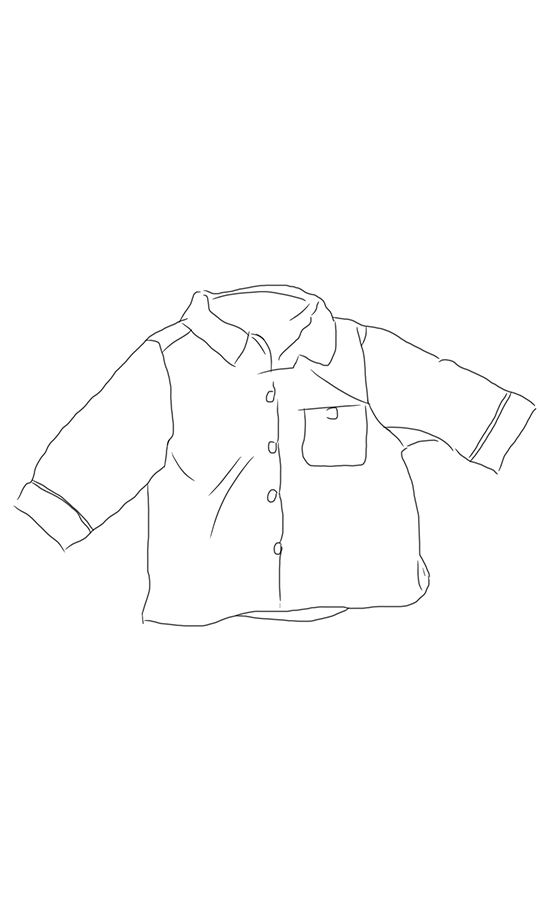 Top drawing clothes. View on the floor