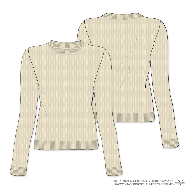 knitting vector cable knit