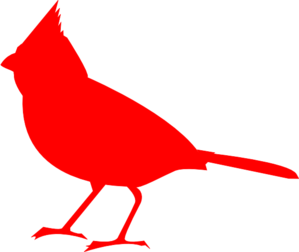 Outside clipart bird. Cardinal silhouette clip art