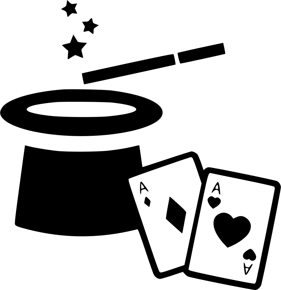 Cards clipart magic card. Hat wand svg png