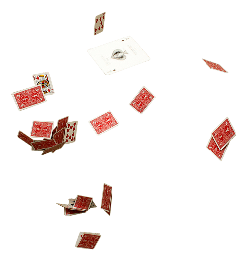 Cards flying png. Live poker theme style