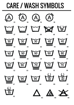 Care label png. Resource symbols for fashion