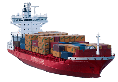Container ship png. Transparent stickpng