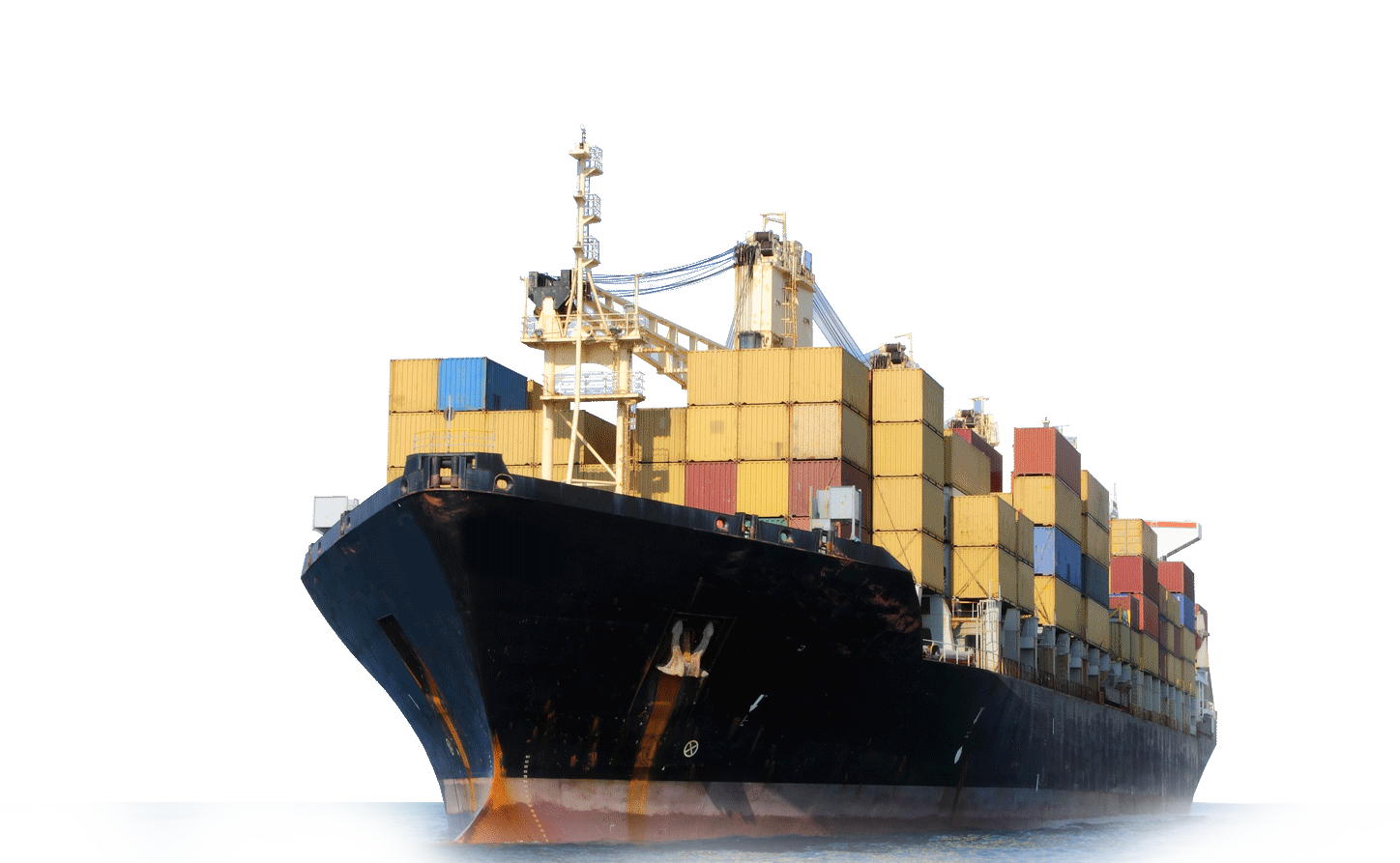 Cargo ship png. Freight transport container transprent