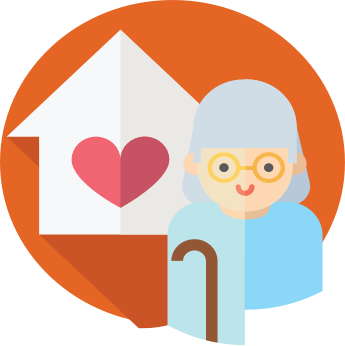 Caring clipart old age care. For seniors at home