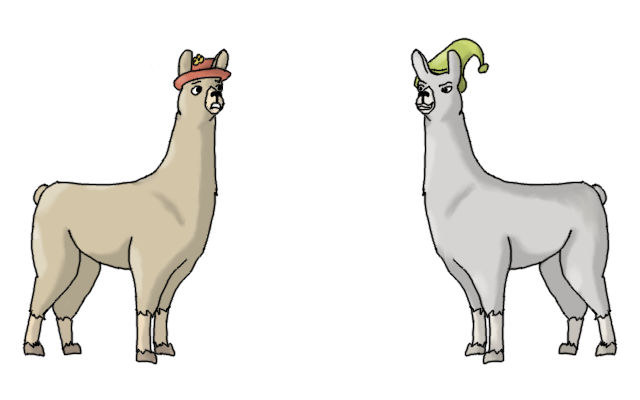 Carl the llama png. Animatedblog animating in blender