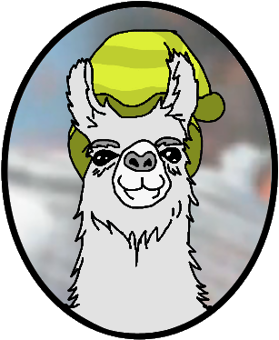 Carl the llama png. For llamas by dogartcomics