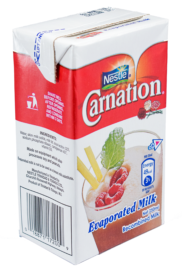 Carnation milk png. Evaporated ml